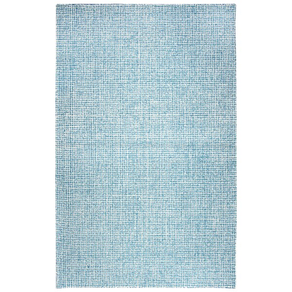 Landgrove Hand-Tufted 100% Wool Teal Area Rug by Latitude Run